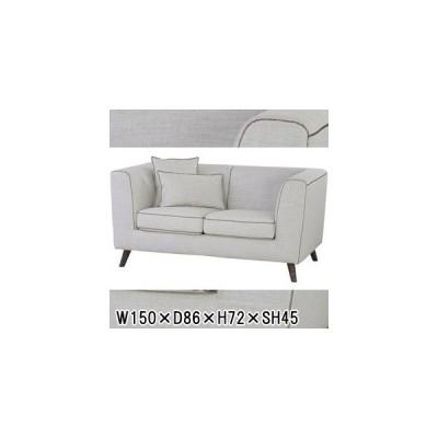 ソファー ソファ/二人掛け/クッション付き カバーリング対応/W150 D86 H72 SH45