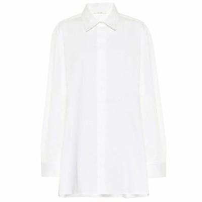 ザ ロウ The Row レディース ブラウス・シャツ トップス Big Sisea stretch-cotton shirt White