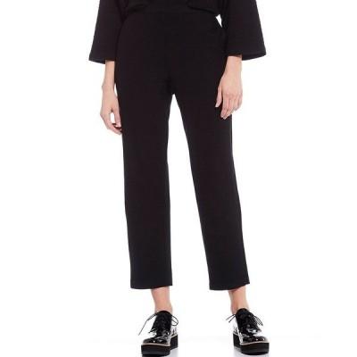 エイリーンフィッシャー レディース カジュアルパンツ ボトムス Lightweight Washable Stretch Crepe Tapered Ankle Pants Black