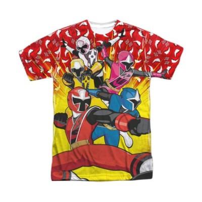 Tシャツ パワーレンジャー Power Rangers Go Go Ninja Sublimation Licensed Adult T Shirt