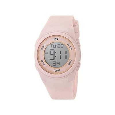 【新品・送料無料】Skechers Women's Vicksburg Polycarbonate Digital Watch with Silicone Strap,