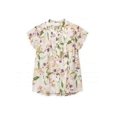 Lucky Brand ラッキーブランド レディース 女性用 ファッション ブラウス Flutter Sleeve Poet Blouse - Natural Multi