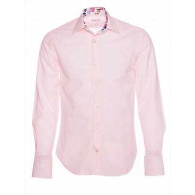 柄シャツ  メンズシャツ カジュアルシャツ 長袖 ブランド お洒落 カラーシャツ かわいい スカル ドクロ m91td1708