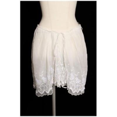【中古】レキサミ REKISAMI 裾刺繍 スカート ahm0412 レディース