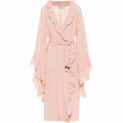 リサ マリー フェルナンデス Lisa Marie Fernandez レディース ワンピース ワンピース・ドレス anita linen-blend dress Pink Metallic