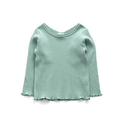 【エフオーオンラインストア】 リブ長袖Tシャツ キッズ ミント 120 F.O.Online Store