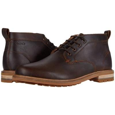 クラークス Foxwell Mid メンズ ブーツ Beeswax Leather