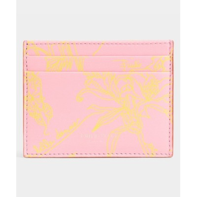 EMILIO PUCCI / CREDIT CARD HOLDER - PRINTED CALF LEATHER WOMEN 財布/小物 > カードケース