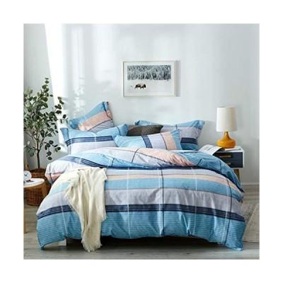 布団カバー 4点セット 綿100% 寝具カバーセット 柔らかい 速乾 吸湿 通気性 お手入れ簡単 優しい肌触り 四季通用