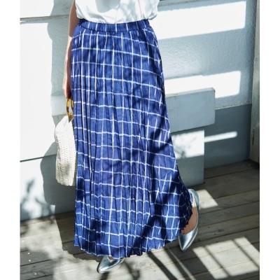 【ロペピクニック/ROPE' PICNIC】 フレンチリネン混プリーツスカート