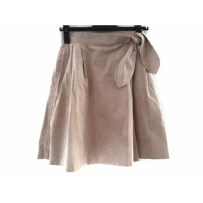 バレンザポースポーツ VALENZA PO SPORTS 巻きスカート サイズM レディース 美品 ベージュ【中古】