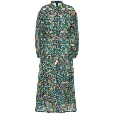 ジマーマン Zimmermann レディース ワンピース ミドル丈 ワンピース・ドレス edie floral cotton midi dress Peacock