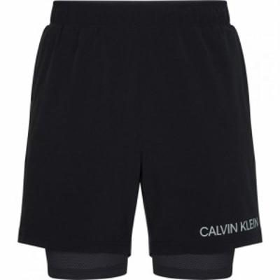 カルバンクライン Calvin Klein Performance メンズ フィットネス・トレーニング ショートパンツ ボトムス・パンツ 2in1 Gym Shorts Blac