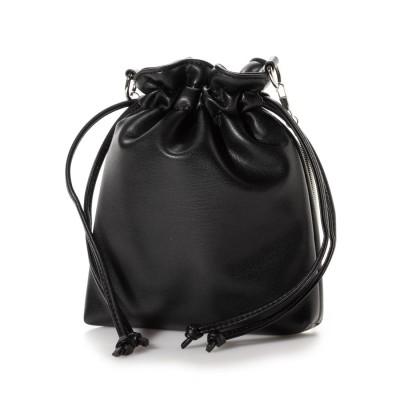 ミニア minia ミニ巾着ショルダー(281906) (ブラック)
