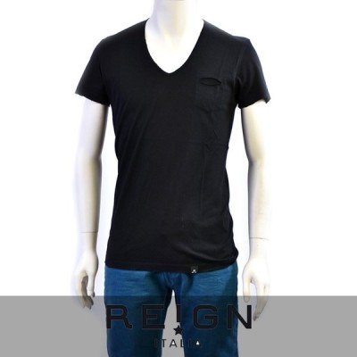 レインイタリア Tシャツ REIGN ITALIA ブラック AT342 J060