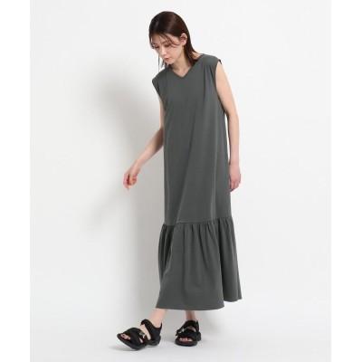 Dessin(Ladies)(デッサン(レディース)) 【S~M】裾ティアードカットジョーゼットワンピース