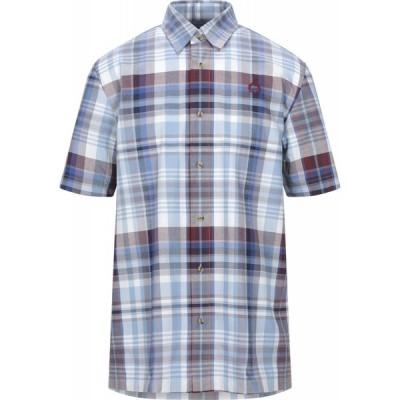 フレッドペリー FRED PERRY メンズ シャツ トップス checked shirt Sky blue