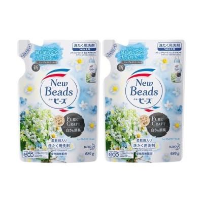 ニュービーズ 洗濯洗剤 ピュアクラフト ミューゲ&カモミールの香り 詰替 ( 680g*2袋セット )/ ニュービーズ