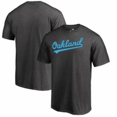 Fanatics Branded ファナティクス ブランド スポーツ用品  Fanatics Branded Oakland Athletics Heather Gray 2019 Fathers Day Blue Wor