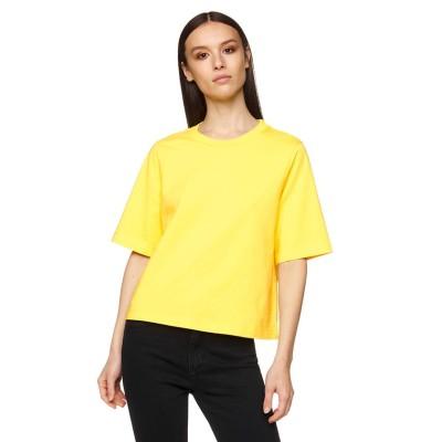 (BENETTON (women)/ベネトン レディース)ヘビーコットンオーバーサイズTシャツ・カットソー/レディース イエロー