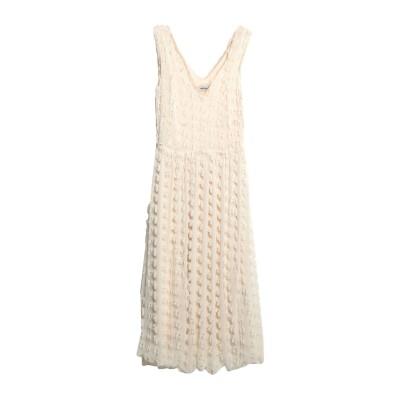 OTTOD'AME 7分丈ワンピース・ドレス ホワイト 38 100% ポリエステル 7分丈ワンピース・ドレス
