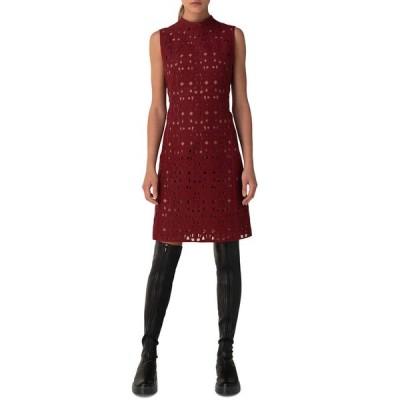 アクリス レディース ワンピース トップス Openwork Embroidered Sheath Dress