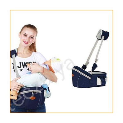 Baby Hip Seat Carrier Waist Stool ? SKYROKU Baby Carrier for Child Infant Toddler with Adjustable Back Strain Relief Strap Safety Certified (Navy Bl
