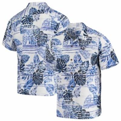 """トミーバハマ メンズ カジュアルシャツ """"Los Angeles Rams"""" Tommy Bahama Super Fan Camp Button-Up Shirt - Navy"""