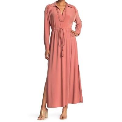 テイラー レディース ワンピース トップス Solid Jersey Maxi Shirt Dress DUSK ROSE
