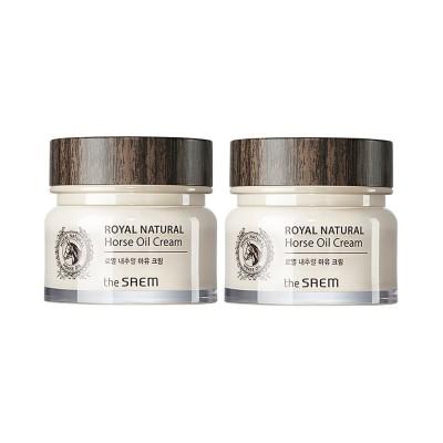 [THESAEM] 1+1 ロイヤルナチュラル馬油クリーム - 80ml / Royal Natural Horse Oil Cream