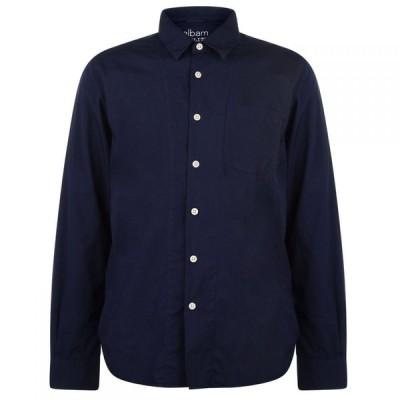 Albam ユーティリティー Albam Utility メンズ シャツ トップス Poplin Shirt Navy