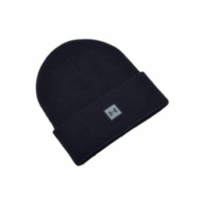 アンダーアーマー メンズ 帽子 アクセサリー Truckstop Beanie Black/Pitch Gra