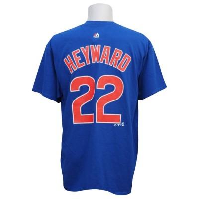 リニューアル記念メガセール MLB カブス ジェーソン・ヘイワード プレイヤー Tシャツ マジェスティック/Majestic