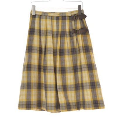 SM2 Samansa Mos2 / サマンサ モスモス チェック柄リネン混ベルト スカート