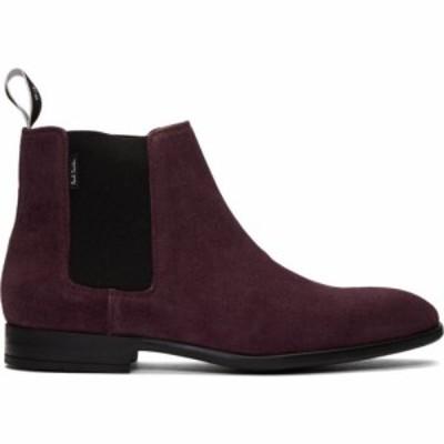 ポールスミス PS by Paul Smith メンズ ブーツ チェルシーブーツ シューズ・靴 burgundy suede gerald chelsea boots Burgundy