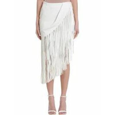 Magda Butrym レディーススカート Magda Butrym London Leather Fringe Skirt white