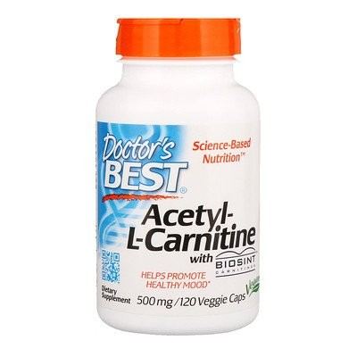 Acetyl-L-Carnitine with Biosint Carnitines, 500 mg, 120 Veggie Caps