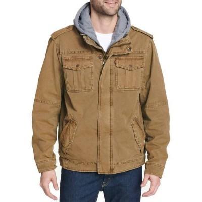 リーバイス メンズ ジャケット・ブルゾン アウター Levi's Men's Sherpa Lined Hooded Utility Jacket