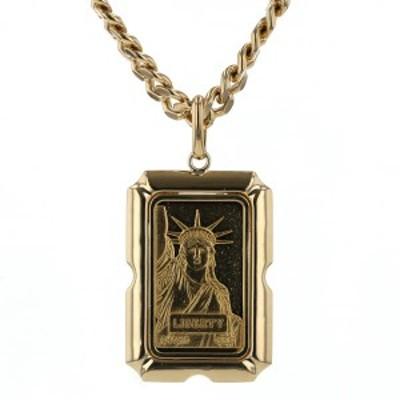 K24K18YG イエローゴールド ネックレス クレディ・スイス リバティインゴット 10g 自由の女神 1985年 喜平 52cm【新品仕上済】【zz】【中