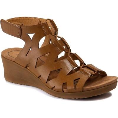 ベアトラップ Baretraps レディース サンダル・ミュール ウェッジソール シューズ・靴 Tiney Gladiator Wedge Sandals Brown