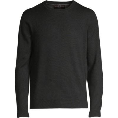 ブラックブラウン Black Brown 1826 メンズ ニット・セーター トップス Crewneck Italian Merino Wool Sweater チャコールグレー