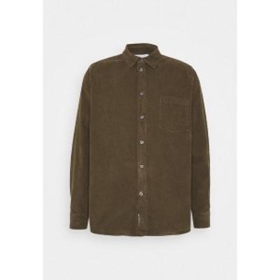 ウッド ウッド メンズ シャツ トップス ASKE CORD - Shirt - dark green dark green