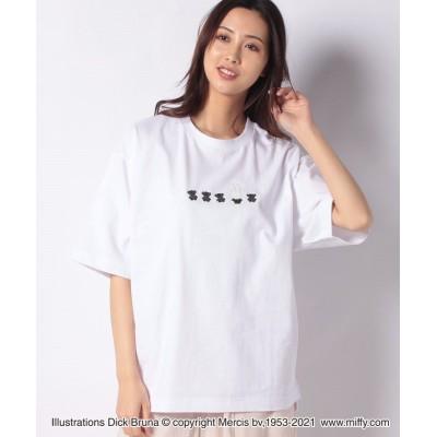【コエ】 miffy&teddy tshirts ユニセックス ホワイト L koe