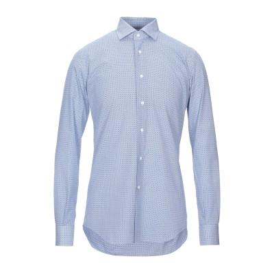 DEL SIENA シャツ ブルー 39 コットン 100% シャツ