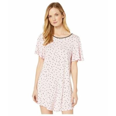 ケイト スペード ナイトウェア アンダーウェア レディース Evergreen Modal Jersey Short Sleeve Sleepshirt Scattered Dot Pink