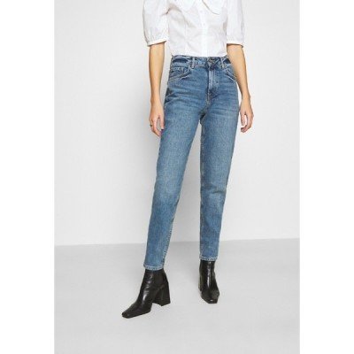 ピーシーズ デニムパンツ レディース ボトムス PCLEAH MOM - Relaxed fit jeans - medium blue denim