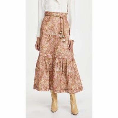 ジマーマン Zimmermann レディース ひざ丈スカート スカート Brighton Frill Hem Midi Skirt Sherbet Paisley