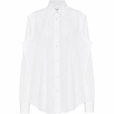 メゾン マルジェラ Maison Margiela レディース ブラウス・シャツ トップス Cotton-poplin shirt Optic White