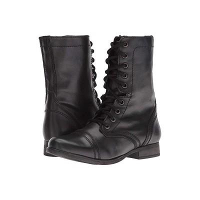 スティーブマッデン Troopa Combat Boot レディース ブーツ Black Leather