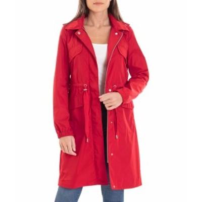 アベックレフィレ レディース コート アウター Water-Resistant Anorak Red